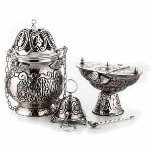 Encensoir et navette ciselés avec anges s1