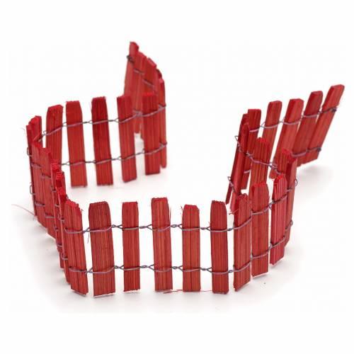 Enclos bois rouge pour crèche long. 40 cm s2