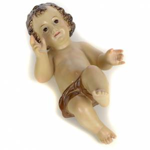 Enfant Jésus 25cm pâte à bois brunie s3