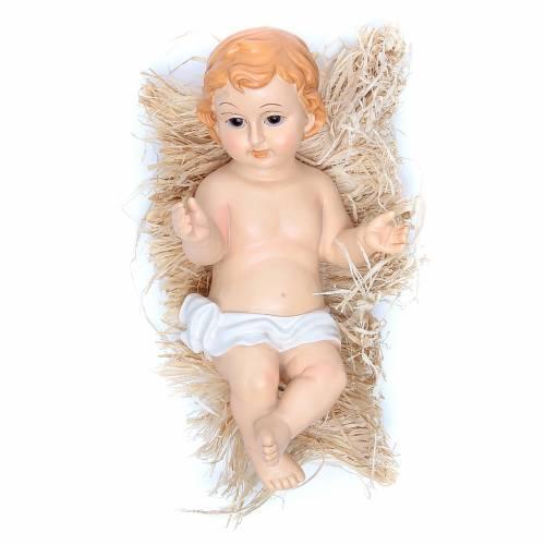 Enfant Jésus santon polyrésine peinte 31 cm s1