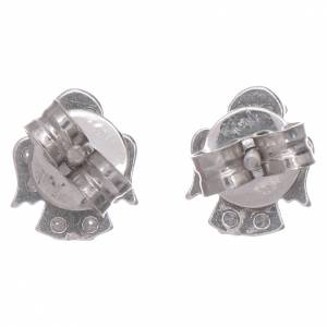 Anhänger, Kreuze, Broschen: Engel Ohrringe AMEN Silber 925 mit Zirkonen