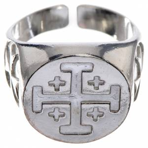 Episcopal ring in 800 silver with Jerusalem cross s1