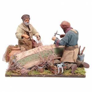 Belén napolitano: Escena de pescadores belén napolitano 24 cm