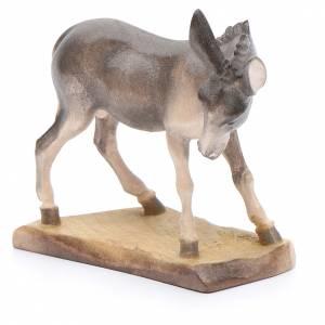Krippe aus Grödnertal Holz: Esel 12cm Holz, Krippe Valgardena