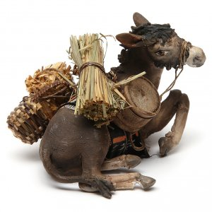 Krippenfiguren von Angela Tripi: Esel 13cm Terrakotta, A. Tripi
