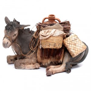 Krippenfiguren von Angela Tripi: Esel Tripi Angela 30 cm gebrannter Ton