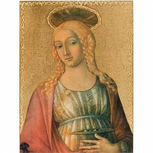 Cuadros, estampas y manuscritos iluminados: Estampa en madera Santa Lucia