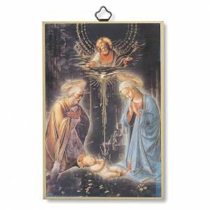 Cuadros, estampas y manuscritos iluminados: Estampa sobre madera Natividad
