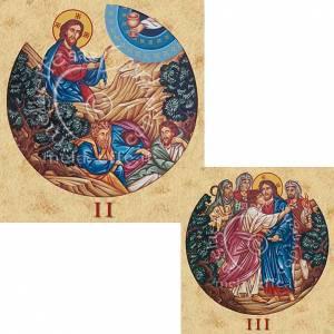Cuadros, estampas y manuscritos iluminados: Estampa Vía Crucis 15 estaciones