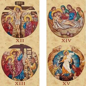 Estampa Vía Crucis 15 estaciones s5
