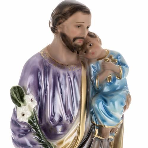 Estatua San José con niño 50 cm. yeso s2