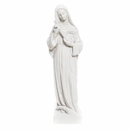 Estatua Santa Rita polvo de mármol blanco s1