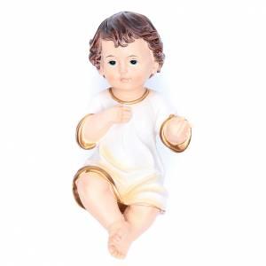 Estatuas del Niño Jesús: Estatua vestida Niño Jesús 21 cm resina