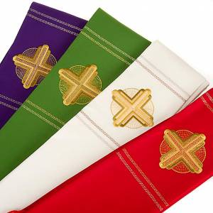 Estola litúrgica bordado dorado s5