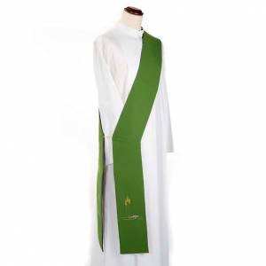Estolas: Estola para diácono doble cara verde y purpura