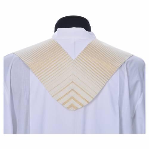 Etole à rayures or en laine et lurex s3