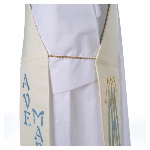Etole pour diacre 100% polyester symbole marial s5