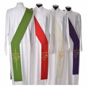 Etole pour diacre croix IHS 100% polyester s2