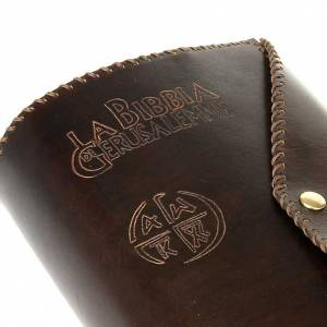 Etui en cuire La Bible de Jérusalem, grande taille avec b s4