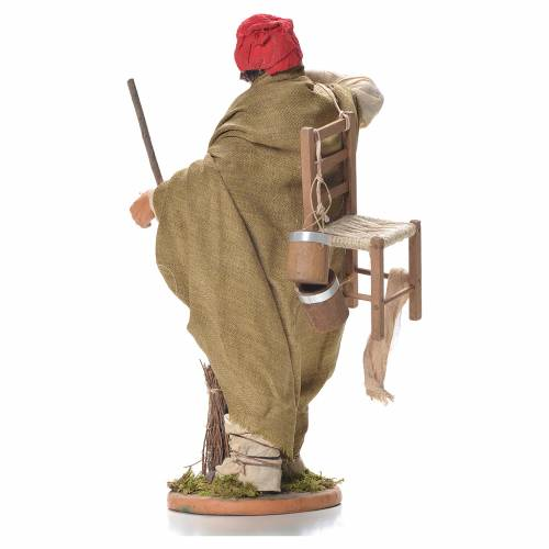 Evicted man with chair, Neapolitan Nativity 30cm s3