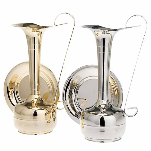 Ewer and basin, gold-plated brass or palladium s1