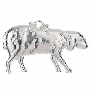 Ex-voto, sheep in sterling silver or metal, 11 x 6cm s1