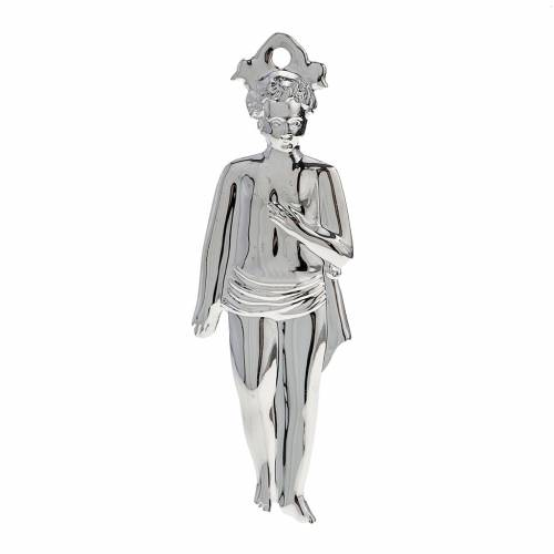 Ex-voto, young boy in sterling silver or metal, 15cm s1
