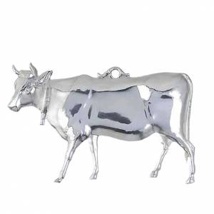 Exvoto mucca argento 925 o metallo 14x8 cm s1