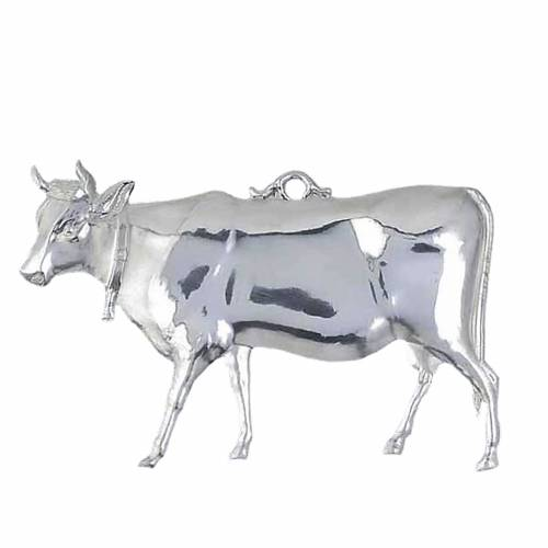 Exvoto mucca argento 925 o metallo 14x8 cm 1