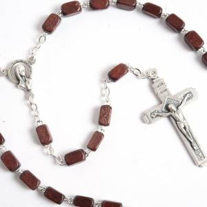 Faceted coconut-effect beads rosary s7