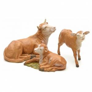 Animales para el pesebre: Familia de bovino cm 12 Fontanini