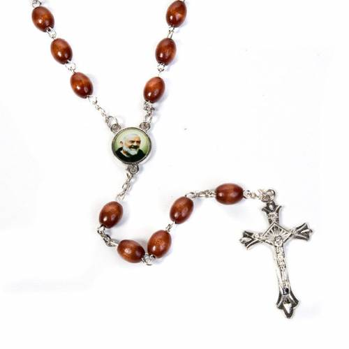 Father Pius wood rosary with box s2
