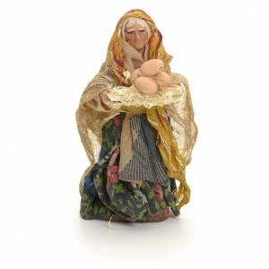 Femme aux oeufs crèche Napolitaine 8 cm s1