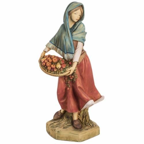Femme avec fruits crèche noel 52 cm Fontanini s1