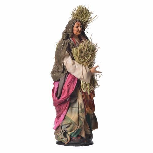 Femme avec paille 30 cm crèche napolitaine s3