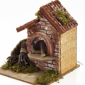 Feu en miniature crèche Noel s2