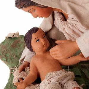 Vierge couchée avec enfant 24 cm s4