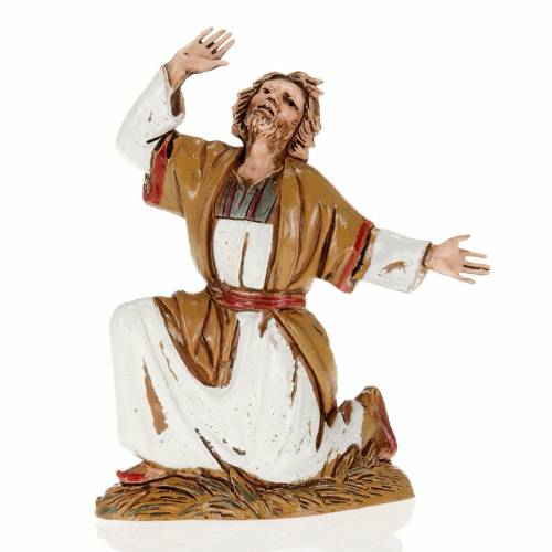 Figurines for Moranduzzo nativities, astonished man 10cm s1