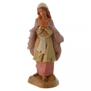 Santons crèche: Fille avec sa lampe crèche Fontanini 12 cm