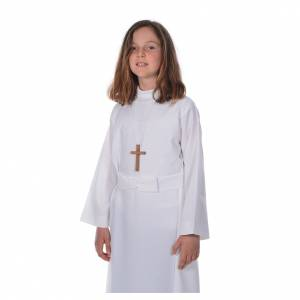 First communion alb for girl with bow s5
