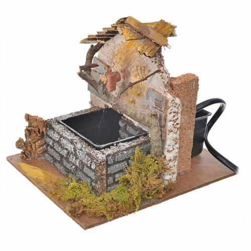 Fontaine avec pompe pour crèche 12x12x14cm s2
