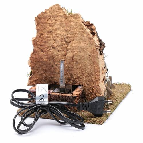 Fontana con oste per presepe 20x25x15 cm s4