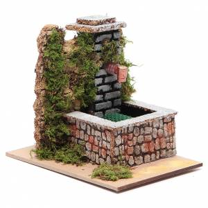 Fontane Presepe: Fontana resina con pompa a riciclo d'acqua di dimensioni 10x10x15