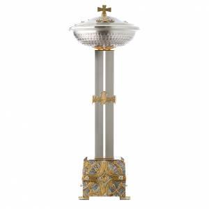Fonti battesimali: Fonte battesimale in bronzo dorato argentato