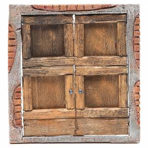 Balustrade, doors, railings: Front door for nativity 18x15cm