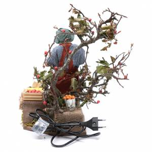 Fruit seller with scales for Animated Neapolitan Nativity, 24cm s4