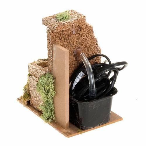 Fuente pesebre eléctrcia musgo y corcho 2 watt s3