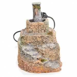 Fuentes: Fuente pesebre resina con escalera 13x10x15 cm