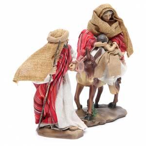 Fuga dall'Egitto 24 cm 2 pz resina fin. Red Beige s2