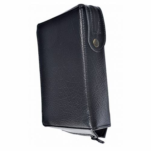 Funda Biblia CEE grande simil cuero negro Sagrada Familia s2
